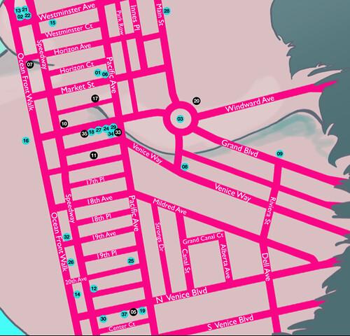 Venice Art Crawl Map