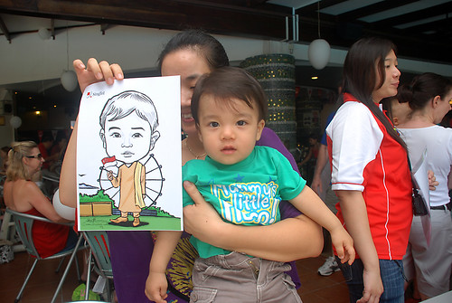 Caricature live sketching for The British Club and Singtel -13