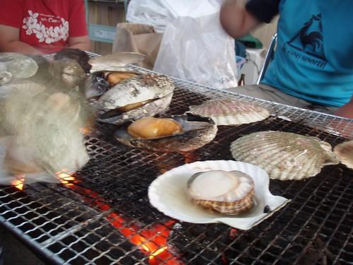 ヒル貝とホタテのバーベキュー
