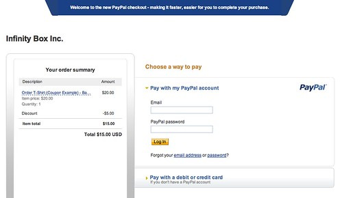 PayPal payment page showing discounted price.