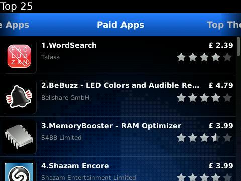 App World 2 top 25
