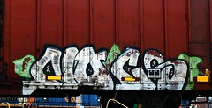 Nocs (mightyquinninwky) Tags: railroad train switch graffiti tag graf tracks railway trains tags tagged stamp faded railcar engines rails weathered boxcar graff graphiti switches freight stamped buffed trainart rollingstock fr8 railart spraypaintart reflectivetape freightcar movingart diesels nocs boxcarart freightart taggedboxcar paintedboxcar paintedrailcar taggedrailcar