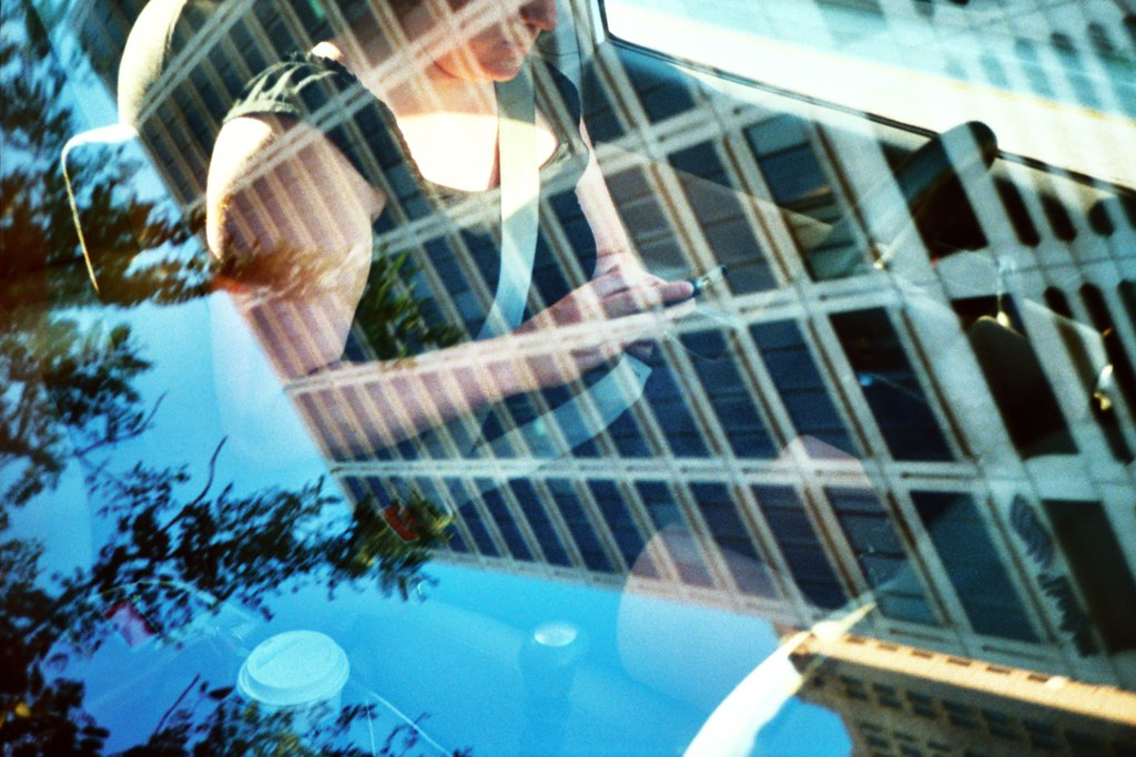 Reflected Catherine (jakedavidrohde) Tags: Film 35mm Toy Lomo Lca Xpro  Lomography Crossprocessed Cross