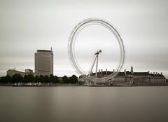 London Eye (Alistair Haimes) Tags: longexposure blur london thames river landscape grey diy cityscape londoneye southbank homemade filter ferriswheel greysky citiscape weldingglass vle weldglass gettyimagesuklocation