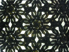 Lokta tessellation, backlit