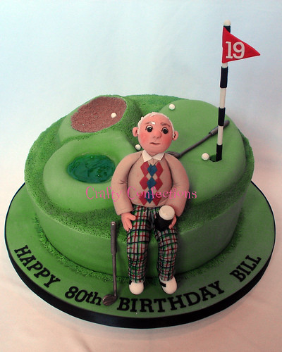 Novelty golf course cake