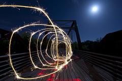 Don't Be a Square (TTYL8R) Tags: lightpainting austin texas tx haunted leds moonlight playingwithlights lightart lightman lapp lightartperformancephotography moorescrossingbridge atxlightjunkies