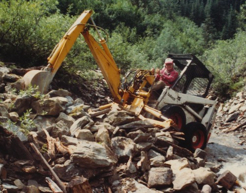 Placer Mining on Ahbau Creek, north of Quesnel 1995.