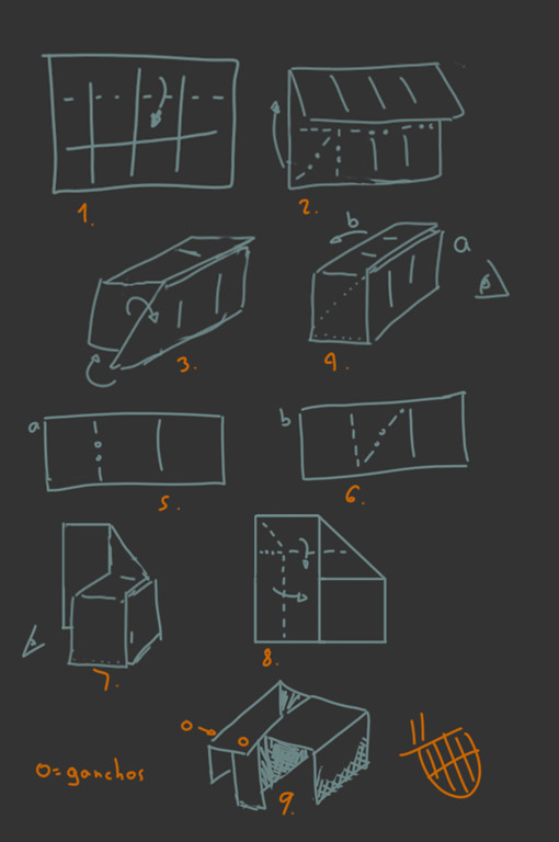 diagramas silla de cartón