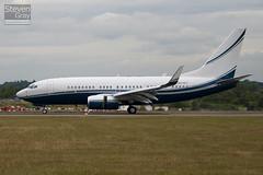 N8767 - 32807 - Wells Fargo Bank Northwest - Boeing 737-7EG BBJ - Luton - 100714 - Steven Gray - IMG_7263