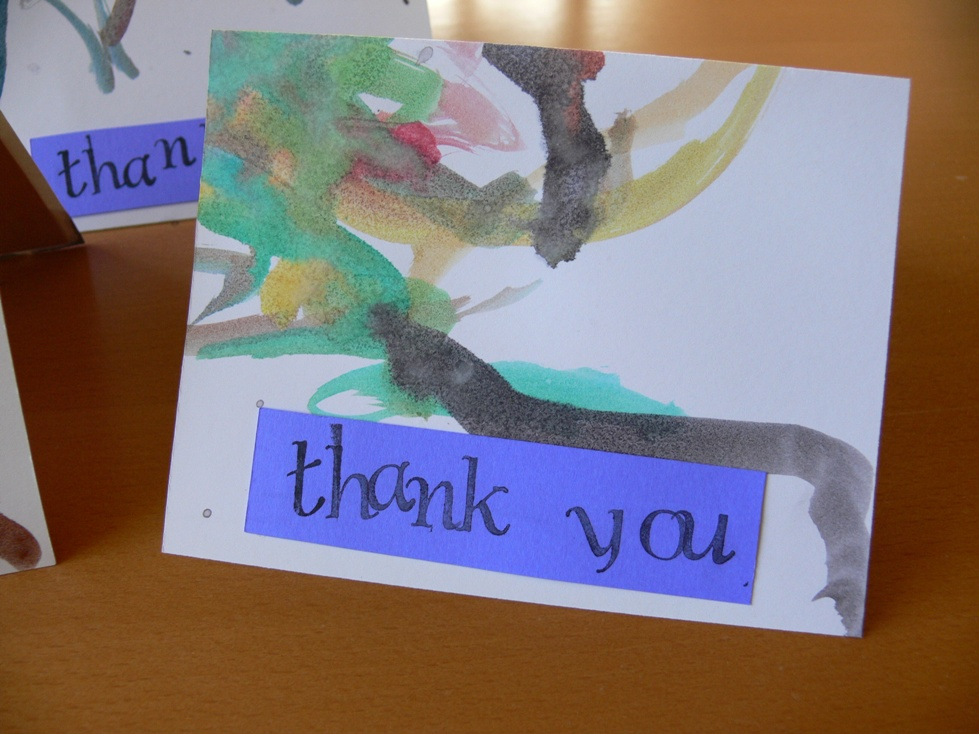 Jenny: Painted Thank You Cards