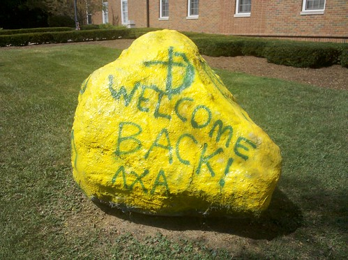 Lambda Chi Alpha Welcome Back Rock