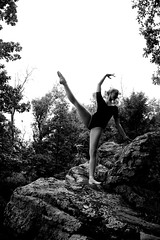 Kiss the Sky (amandanpowell) Tags: blackandwhite ballet nature girl grass rock ballerina huntsville alabama madison pointe rockette pointeshoes rainbowmountain