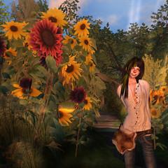 frog's garden (*N_c) Tags: summer flower girl garden avatar sl secondlife frogs