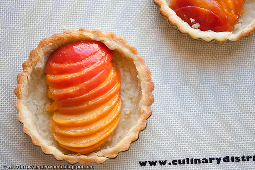 crunchy and custardy peach tart-2