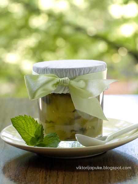 Zucchini-mint confiture