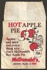 1960s McDonald's Hot Apple Pie bag (daniel85r) Tags: 60s mcdonalds 70s vintagepackaging