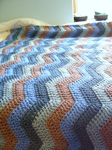 easy ripple afghan