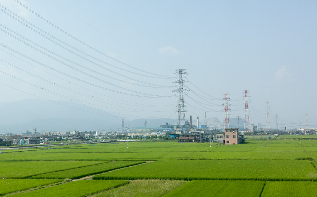 View from a Shinkansen window