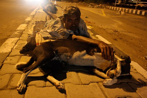 City Moments - The Man With the Dog, Mathura Road