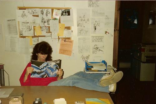 Ryan Brown in Mirage Stuidos Office reading TMNT v.1 #2 (( 1986 ))