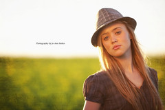 Born to be beautiful! (Jo-Ann Stokes) Tags: hat model shoot sinead reflector canolafields goldreflector