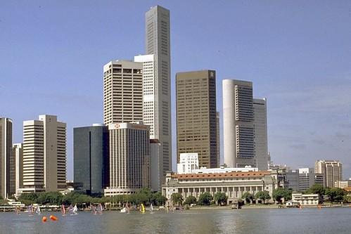1980s Singapore Skyline