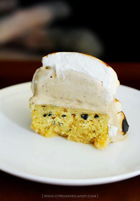 Baked Alaska - dissected