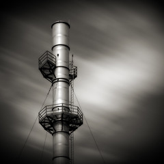 Crow's Nest (Jeff Gaydash) Tags: longexposure blackandwhite industry square industrial nd110