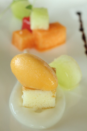 compressed melon, sorbet, yogurt 3