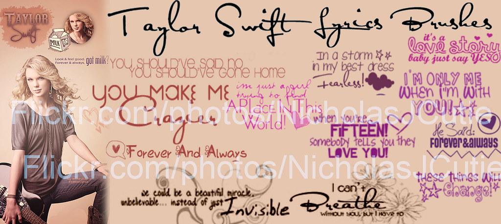 Taylor Swift Lyrics Brushes