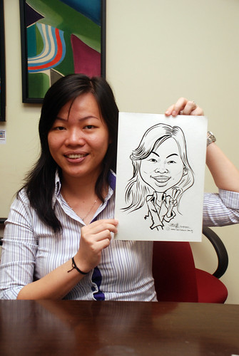 Caricature live sketching @ UOB Finance Division - 4