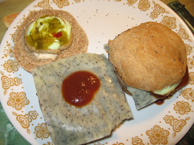 Blue jack cheeseburgers on home-made buttermilk wheat rolls