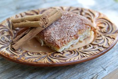 Sopapilla Cheesecake (kellysaurusphoto) Tags: brown cinnamon plate cheesecake sugar creamcheese sopapilla