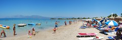Alykes beach Seaside - Panorama /    (SpirosK photography) Tags: sea people panorama beach stitched evia halkida alykes      beacheswithpeople
