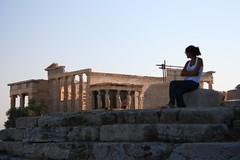 The Acropolis (ElishaBrady) Tags: person ruins sitting hellas athens tourist greece acropolis athina ellda athine  hells hellenicrepublic  athnai attik     ellnikdmokrata