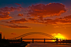 Runcorn Sunset 1 (juliereynoldsphotography) Tags: bridge sunset river island mersey runcorn wigg