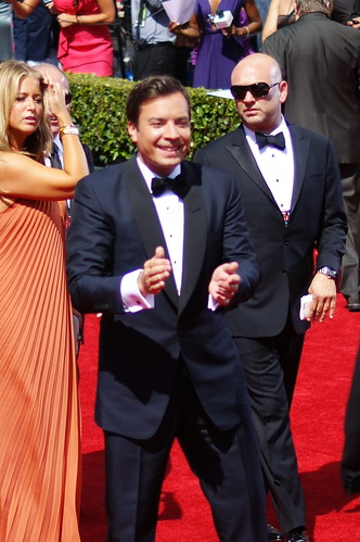 Jimmy Fallon Emmy red carpet