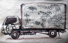Optimist and friends (funkandjazz) Tags: japan truck de graffiti drawing destn optimist hades bmb naka zeam aider deadeyes gats safety1st