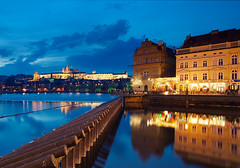 Prague Reflections (Philipp Klinger Photography) Tags: travel bridge blue windows light shadow vacation sky music reflection tree castle church club night clouds reflections disco lights nikon europa europe republic czech prague cathedral prag charles praha tschechien most hour stare czechrepublic bluehour charlesbridge philipp hrad hradcany burg ceskarepublika karluvmost karluv republika klub staremesto prazskyhrad klinger mesto ceska lavka karlsbrcke prazsky klublavka hlavni d700 hlavnimesto dcdead vanagram