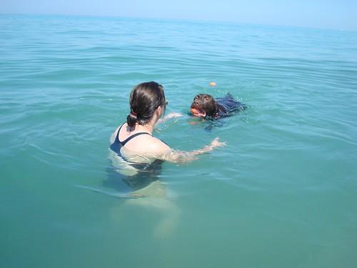 Swim to me!