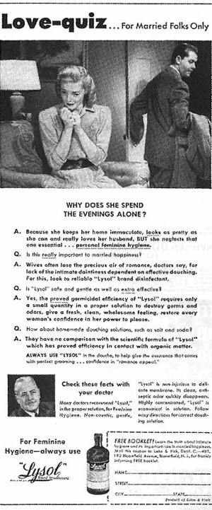 Lysol Douching Ad