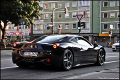 Ferrari 458 Italia (ThomvdN) Tags: black june germany munich italia ferrari thom bella 2010 carphotography 458 thomvdn