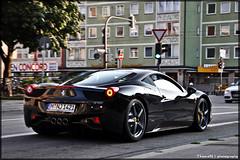 Ferrari 458 Italia (ThomvdN) Tags: black june germany munich italia ferrari thom bella 2010 carphotography 458 thomvdn