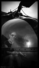 _N5_DSC0922bw copy (mingthein) Tags: portrait blackandwhite bw girl monochrome museum airplane force availablelight 5 aircraft sony air helicopter malaysia kuala 1855 alpha kl ming base pilot lumpur sungai besi nex onn tudm nadiah thein photohorologer mingtheincom