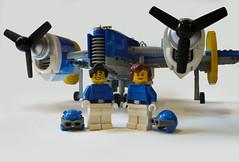 Blue Lightning (JonHall18) Tags: plane fighter lego aircraft fantasy scifi vehicle bomber moc skyfi dieselpunk dieselpulp