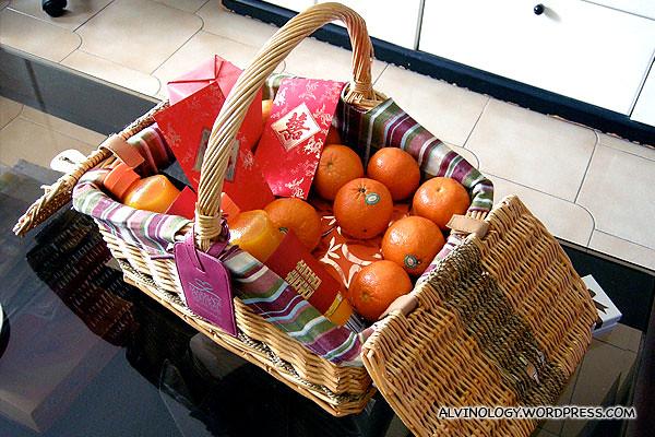 The basket of goodies I got back