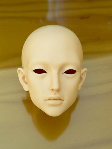 cabeza en blanco
