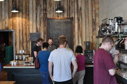 stumptown coffee shop fresh roasted beans van brunt at commerce st red hook brooklyn ny