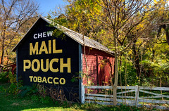 Chew Mail Pouch Tobacco, or don't... (radstu) Tags: ohio barn mailpouch harrisburg 1424 d700